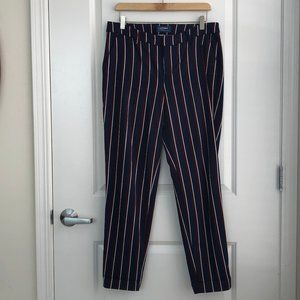Stripped Straight Leg Trousers